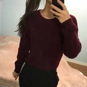 FOREVER 21 Wine Red Sweater